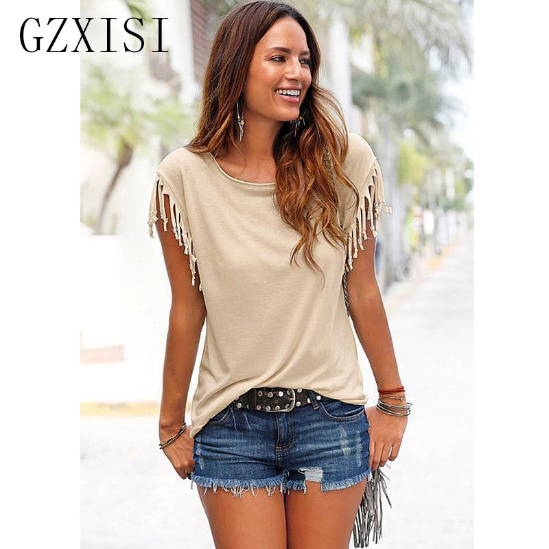 Plus size women clothing summer style t-shirts 2017 casual short