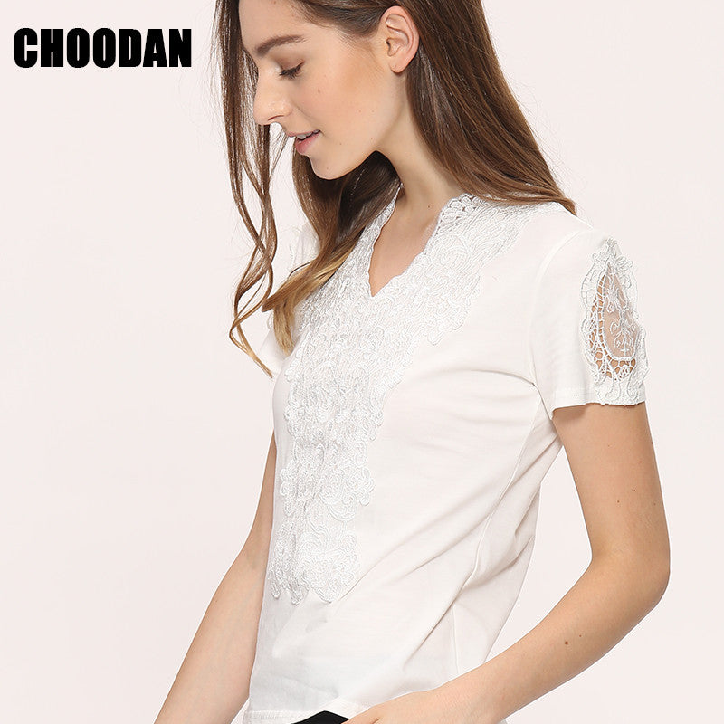 Blusa Lace Blouses Shirts Women Tops Tees 2017 Summer Style White Lace