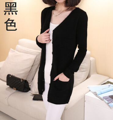 2017 new cardigan women spring autumn long cardigan lady cashmere