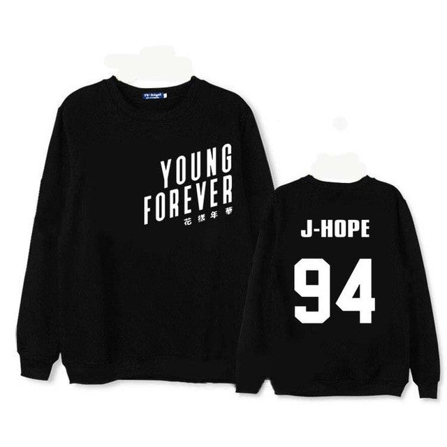 BTS album young forever suga moletom hoodie for men shirt floral