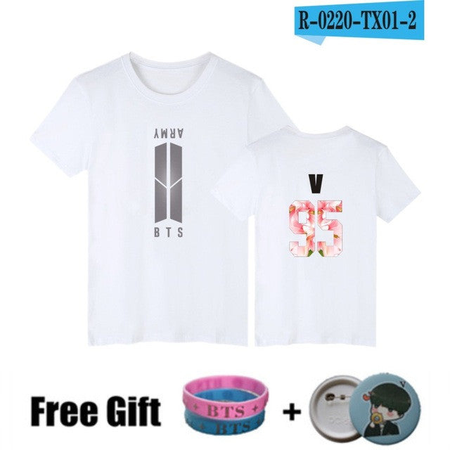 BTS Bangtan Boys T-shirts Women T Shirts Harajuku Black Summer K-pop