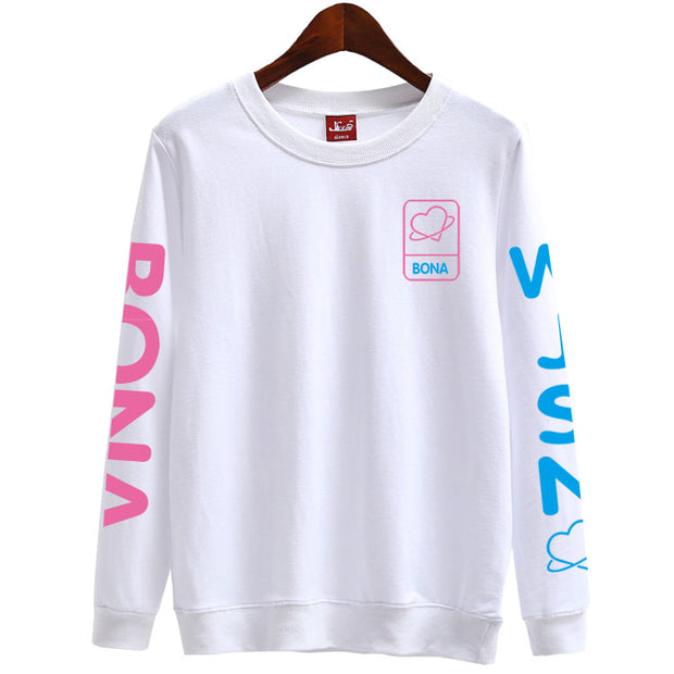 Kpop wjsn mini album fans supportive member name printing sweatshirt