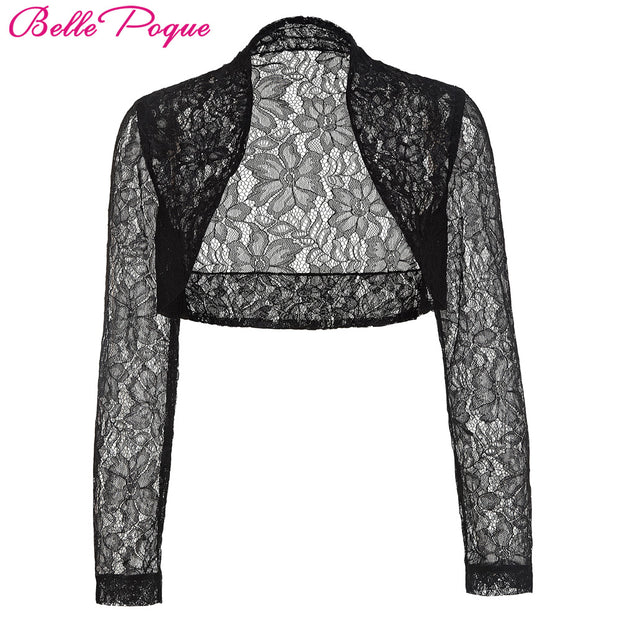 Belle Poque Autumn Jacket Womens Ladies Long Sleeve Cropped Shrug