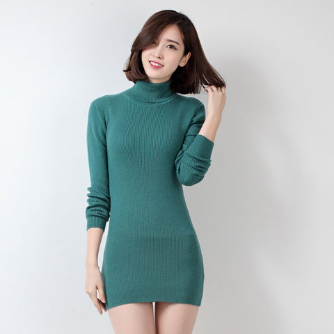 Soft Comfortable Hot Sale 2016 New Fashion Winter Wool Cashmere Women Dress Knitted Pullovers Tops Turtleneck Slim Warm Sweaters - Jessikas Tops