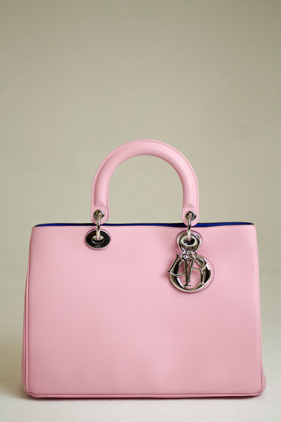 Dior Pink Rose Leather Diorissimo Tote