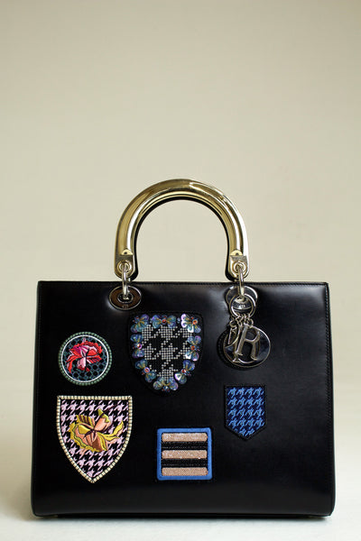 Dior Black Lady Dior Limited Edition With Badges