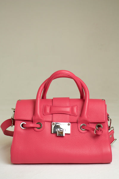Jimmy Choo Pink Rosalie Leather Satchel