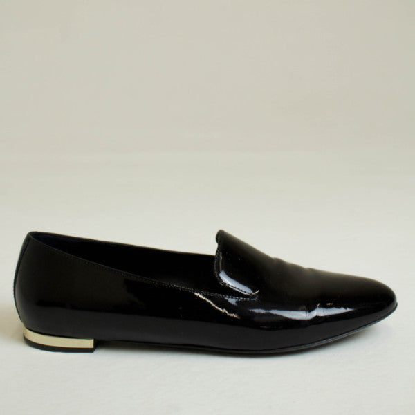 Burberry Black Patent Mormont Loafer Size US 6.5