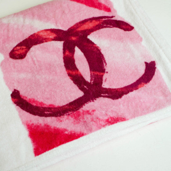 Chanel 2015 Spring Collection Pink Beach Towel