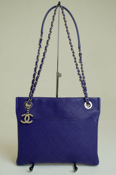 Chanel 2014 Petite Blue Caviar Cross Body Bag