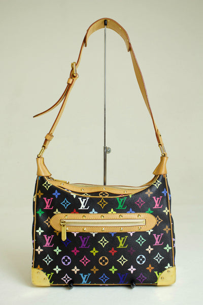 Louis Vuitton Black Multicolore Bologne Bag
