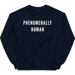 PHENOMENALLY HUMAN CREWNECK SWEATSHIRT (NAVY)