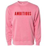 PHENOMENALLY SOFT CREWNECK SWEATSHIRT (PINK) - AMBITIOUS