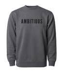 PHENOMENALLY SOFT CREWNECK SWEATSHIRT (BLACK) - AMBITIOUS