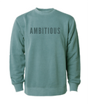 PHENOMENALLY SOFT CREWNECK SWEATSHIRT (ALPINE GREEN) - AMBITIOUS