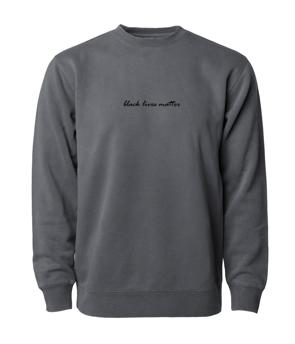 PHENOMENALLY SOFT CREWNECK SWEATSHIRT (BLACK) - BLACK LIVES MATTER