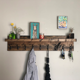 The ED: Wooden Coat Rack, Key Rack, Leash Holder, Towel Holder, Entryway Organizer