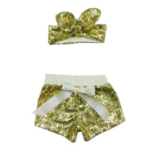 Sparkles Sequin Shorts and Matching Headband