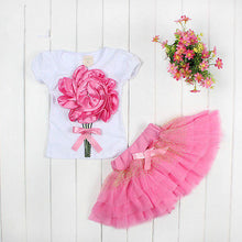 Flower Princess Tulle Skirt Set