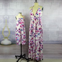 Mommy and Daughter Matching Floral Maxi Dresses