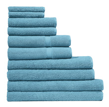Washcloth, Hand Towel, Bath Mat, Bath Towel, & Bath Sheet - Set of 10