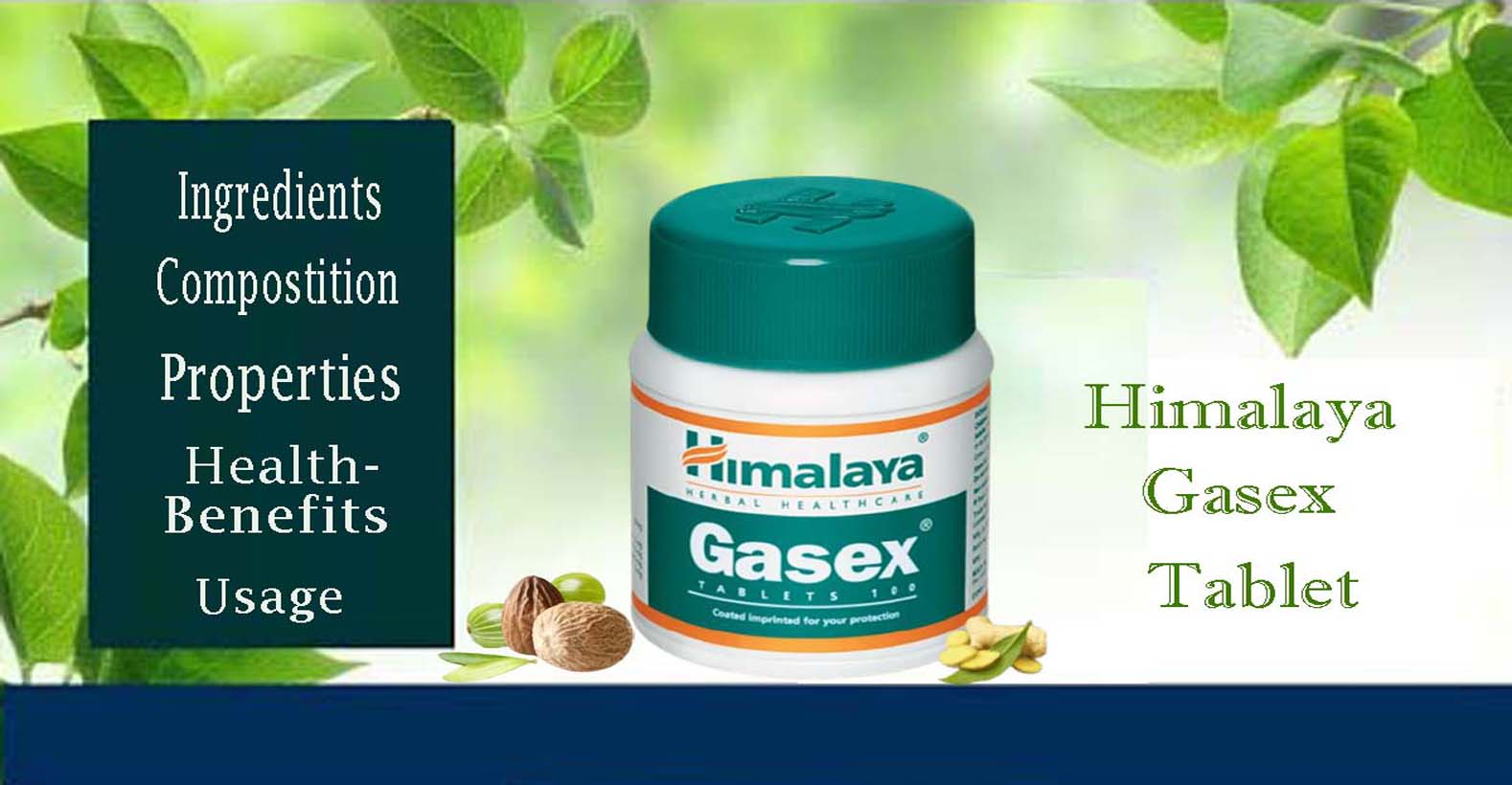 Himalaya Gasex Tablets - Ingredients, Composition, Properties, Health Benefits, Usage