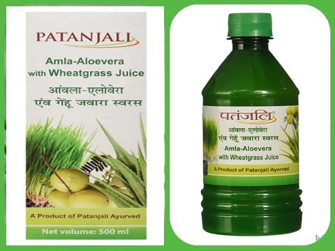 Patanjali Amla Aloevera With Wheat Grass Juice
