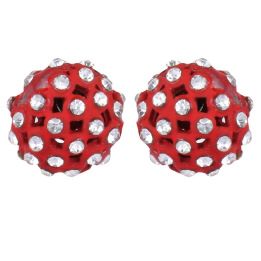 Trendoo Jewelry Gold Plated Stylish Fancy Red Studs