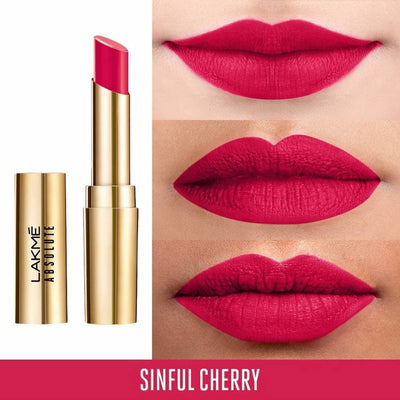 Lakme Absolute Matte Ultimate Lip Color with Argan Oil - Sinful Cherry