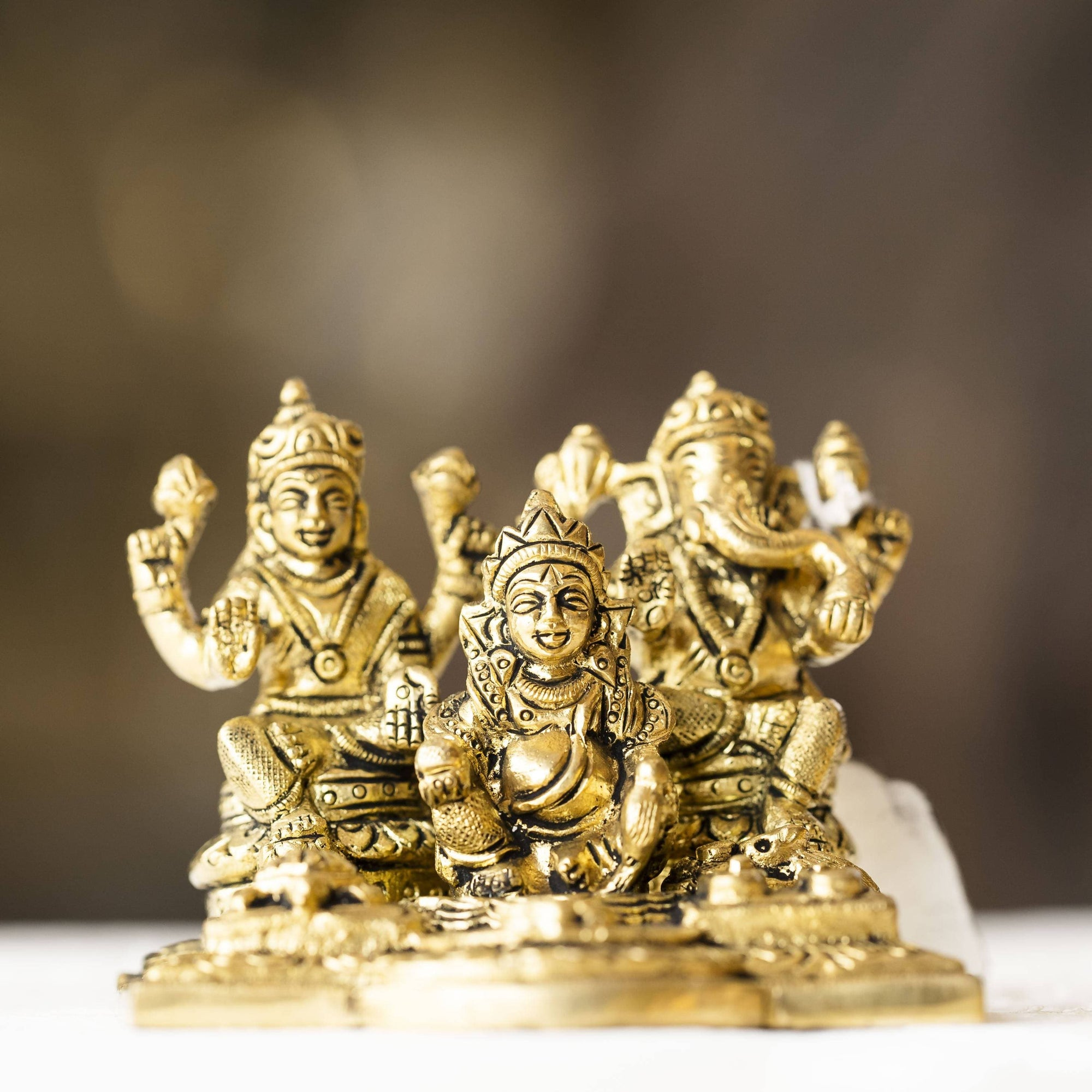 Myoksha Kubera Lakshmi Ganapathi Brass Idol - For Prosperity