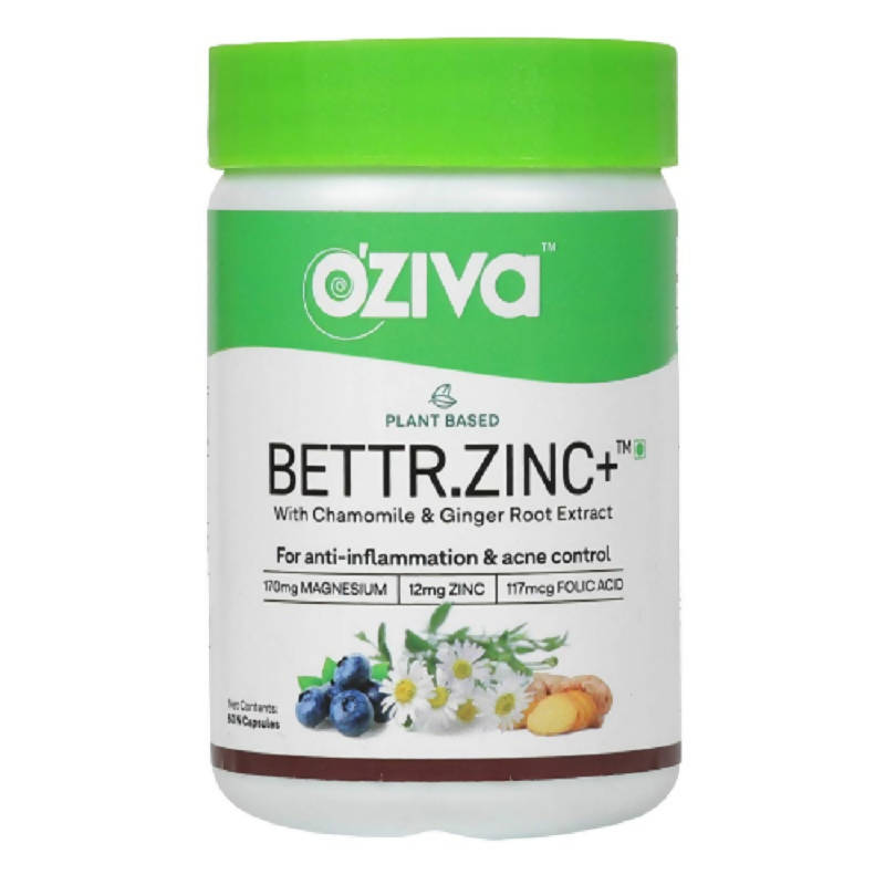 OZiva Plant Based Bettr.Zinc+ With Chamomile & Ginger Root Extract