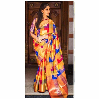 Kanchipuram Multi color Designer Silk Sarees