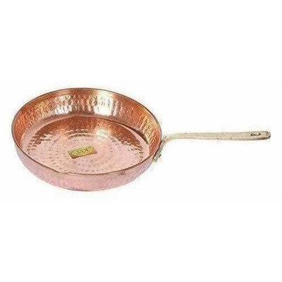 Copper Fry Pan Tadka Pan - Frying Cooking Serving Dishes - Distacart