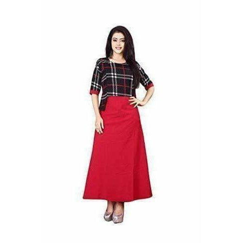 Fashion Women's Cotton Anarkali Kurti - Dista Cart