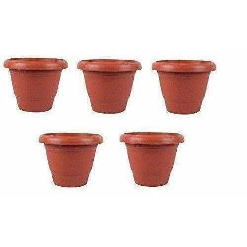 RED Color Plastic Pot (Terracotta) Pack Of 5