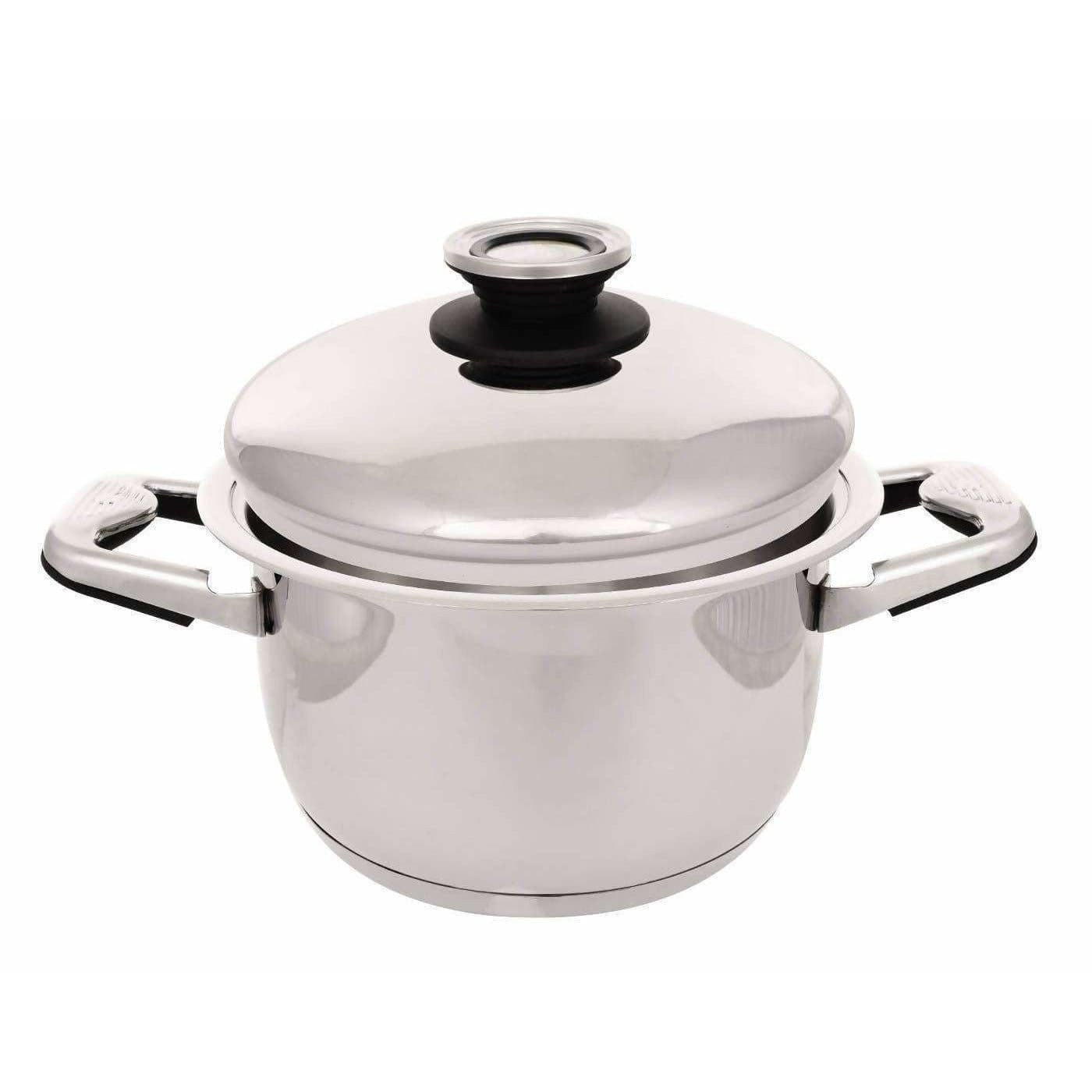 Nutricook - High grade SS 316L Cookware Oil Less & Water Less Sauce Pot with Lid 3.2 Litre 20 cm dia