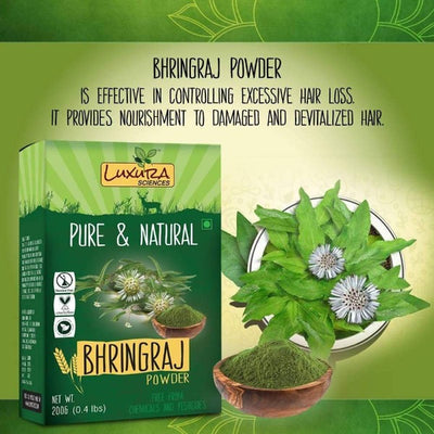 Luxura Sciences Pure & Natural Bhringraj Powder - Distacart