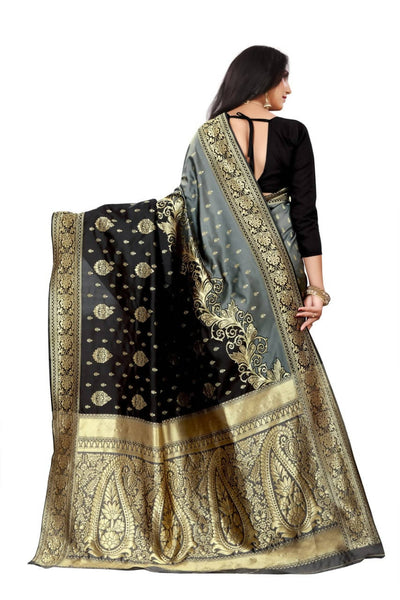 Arfa Rich Cotton Jacuard Self Design Saree - Distacart