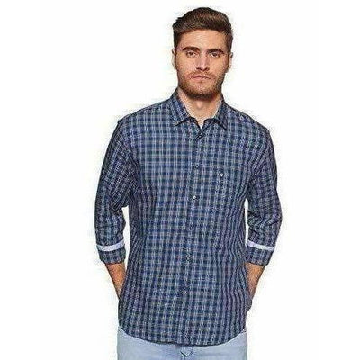 Van Heusen Men's Checkered Slim fit Casual Shirt