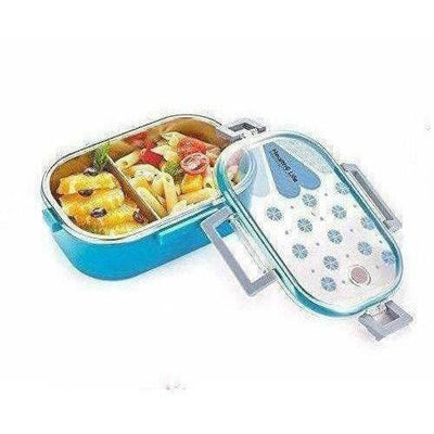 Stainless Steel School Lunch Box with Transparent Lid