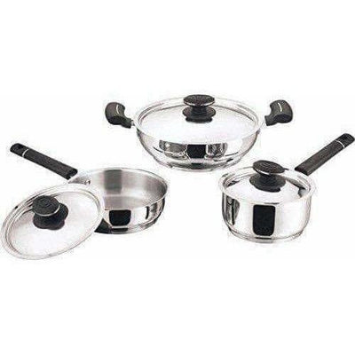 Cookware Stainless Steel  - Set of  3 Pieces - Distacart
