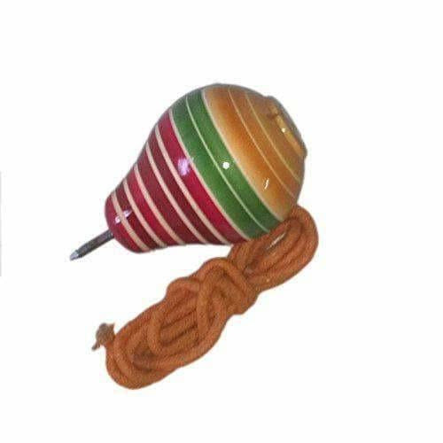 Wooden Spinning Lattoo With Thread