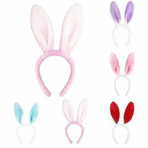 Genie Return Gift for Birthday Party Cute Rabbit/Bunny Ear Hairband for Kids Hair Accessories Hairband/Headband for Girls Pink Headband/ Hairband - Dista Cart