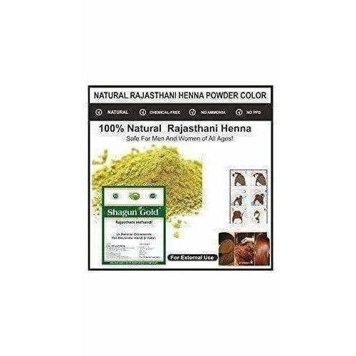 Shagun Gold 100% Organic Pure Natural Rajasthani Henna Powder/ Mehandi Powder For Hair 100 Gm