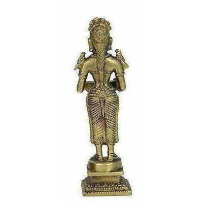 Oil Lamp Deep Lady Brass Collectible Handicraft Small Art - Distacart