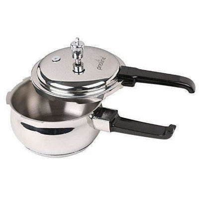 Stainless Steel Handi Pressure Cooker, Silver - 2.5 Litres