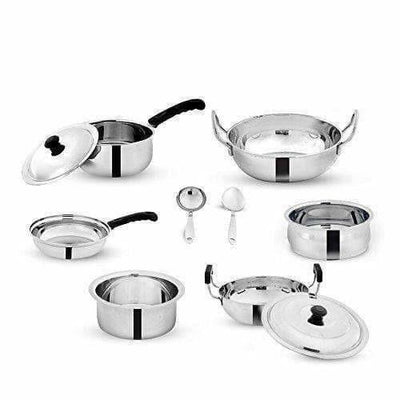 Stainless Steel Cookware - Set of 8-Pieces