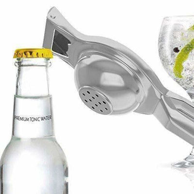 Stainless Steel Lemon Citrus Squeezer / Bottle Opener