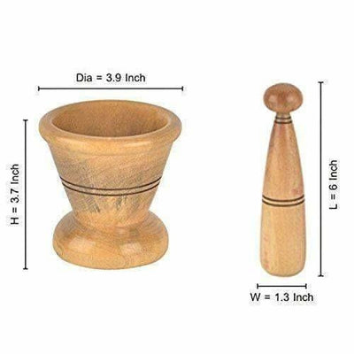Wooden Spice Masher Mortar & Pestle