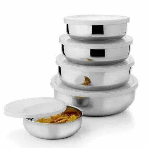 Stainless Steel Air Tight Lid Bowl Set Of 5